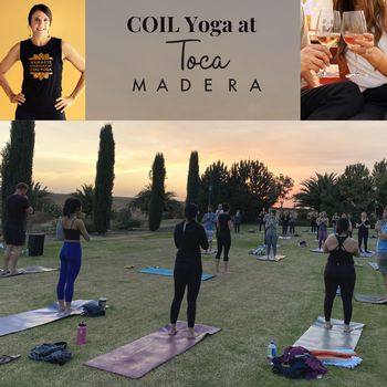 Yoga in the Vines with COIL Yoga May 8th