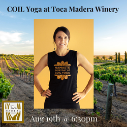 SOLD OUT - Yoga in the Vines with COIL Yoga
